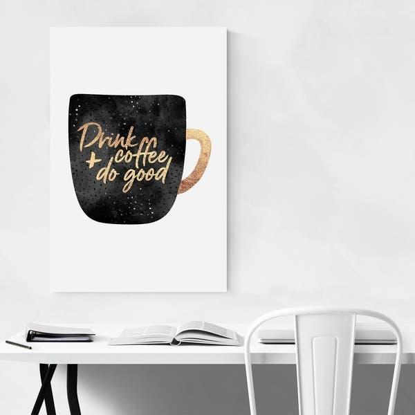 Noir Gallery Kitchen Coffee Decor Typography Metal Wall Art Print