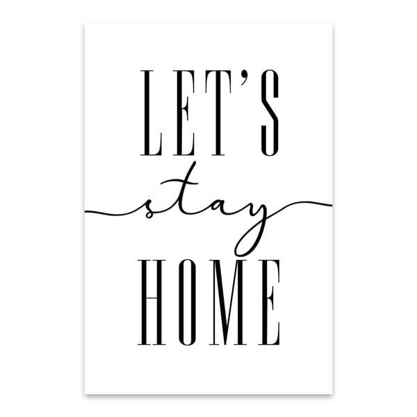 Shop Blursbyai 'Let's Stay Home' Noir Gallery Minimal