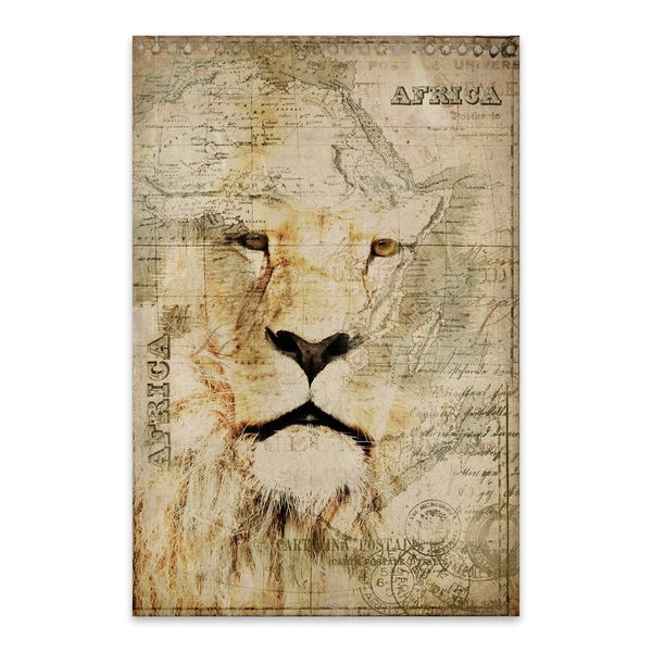 0ce08c5cbb Shop Andrea Haase  King of Africa  Noir Gallery Lion Head Map ...