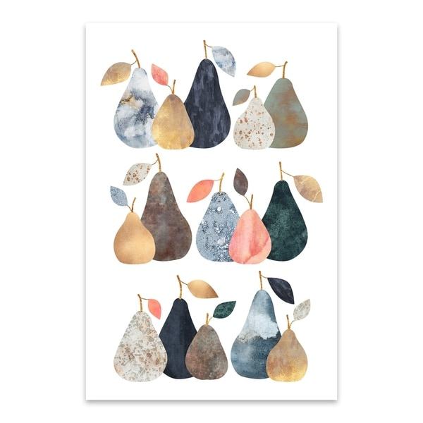 Noir Gallery Elisabeth Fredriksson Pears Kitchen Decor Fruit Food Metal Wall Art Print Free Shipping Today 27559358