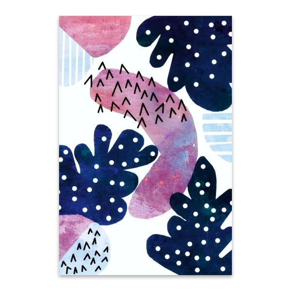 Noir Gallery Artemis Rose Tropics Abstract Geometric Shapes Metal Wall Art Print