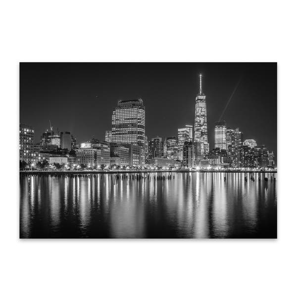 Noir Gallery Black White New York Skyline Nyc Metal Wall Art Print