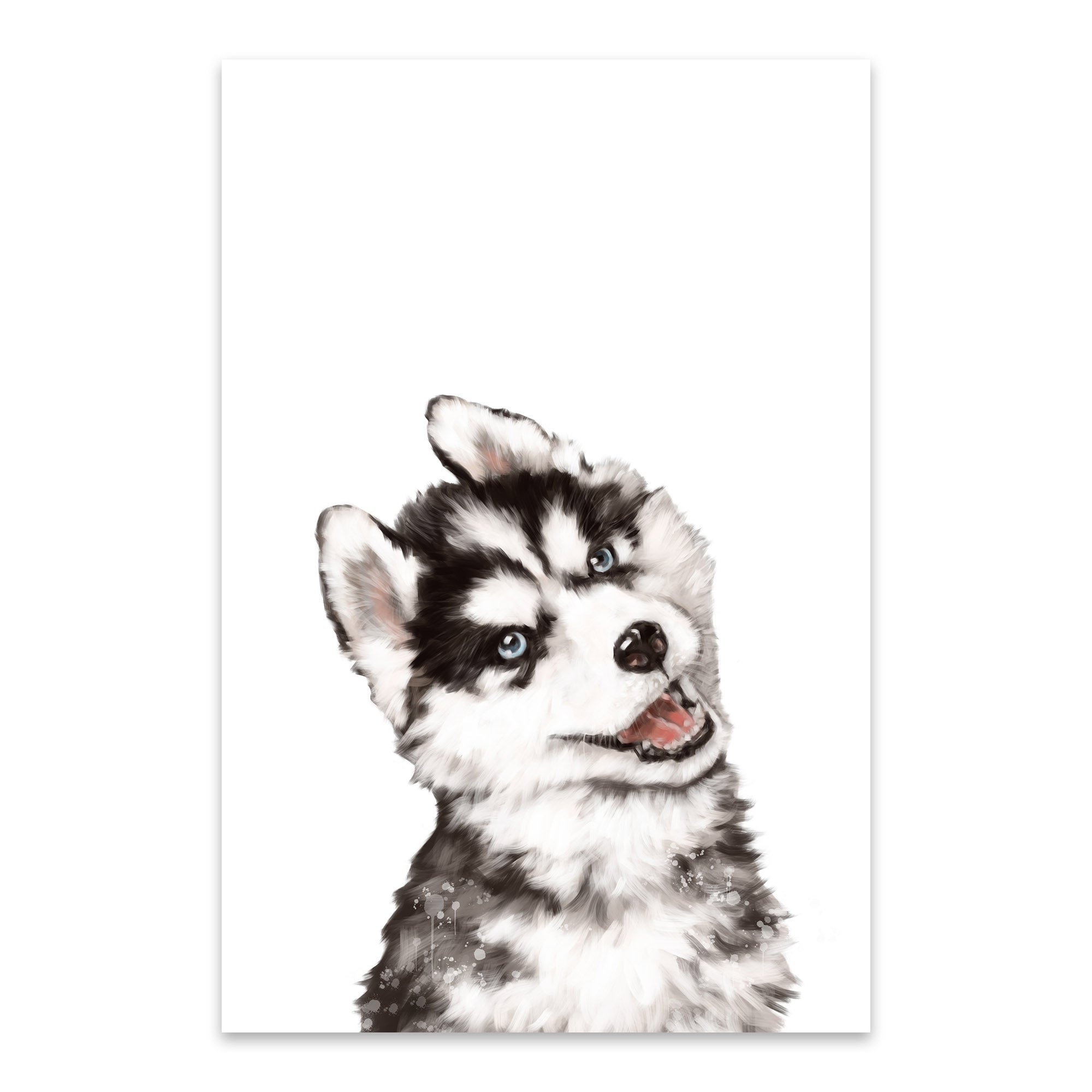 Shop Noir Gallery Big Nose Work Baby Husky Metal Cute Dog Peekaboo Animal Wall Art Print Overstock 27560277