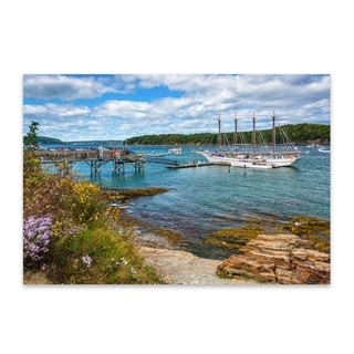 Noir Gallery Jon Bilous 'Bar Harbor 01' Maine Boats Nautical Metal Wall Art Print