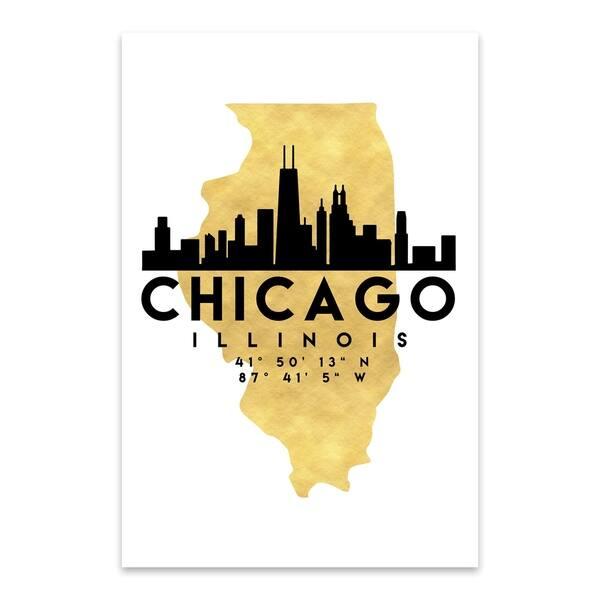 Chicago Skyline Metal Wall Art Print