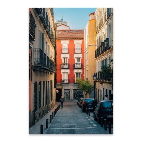 Noir Gallery Jon Bilous 'Colorful Malasana 02' Madrid Spain Malasana Colorful Aluminum Metal Wall Art Print