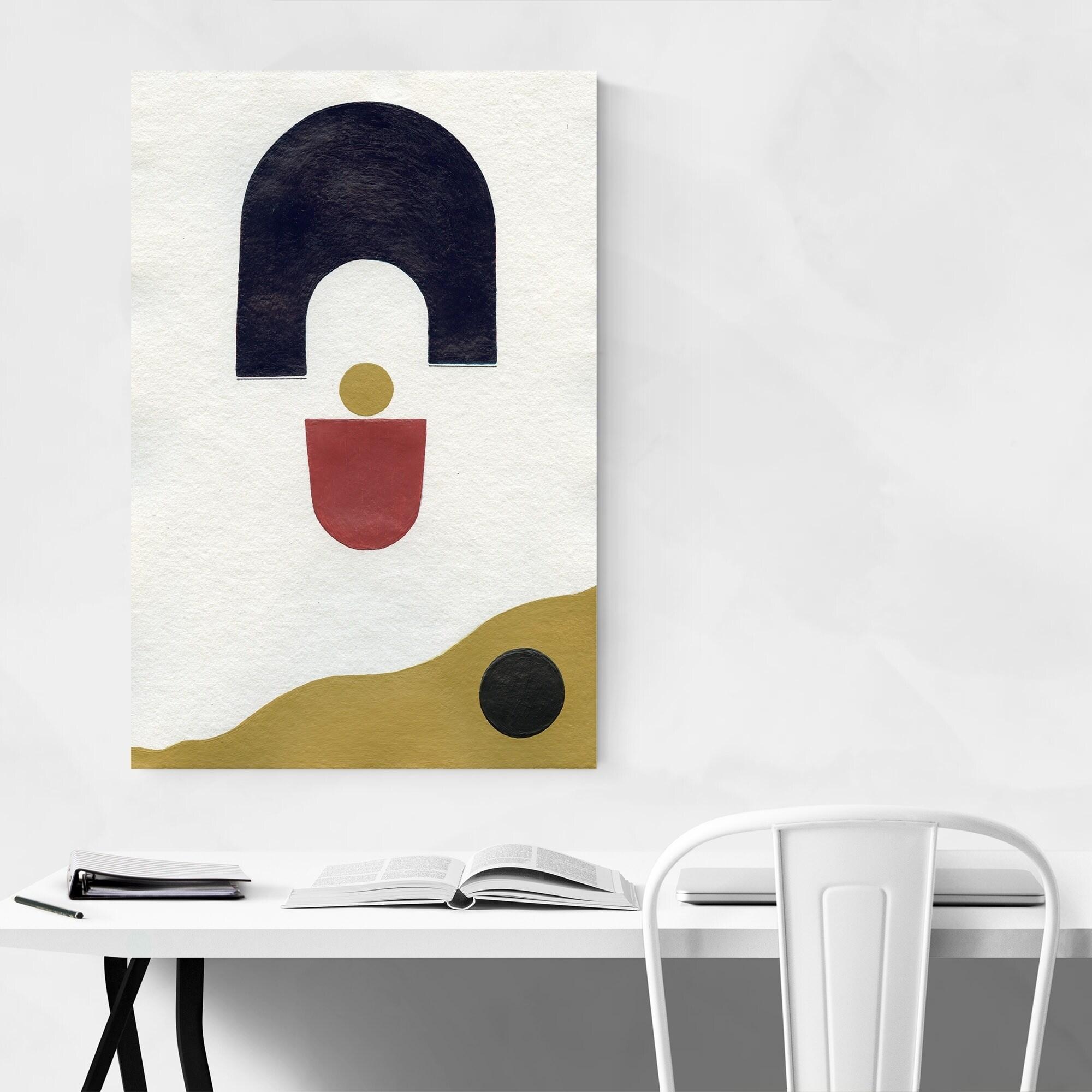 Noir Gallery Abstract Minimal Geometric Shape Metal Wall Art Print