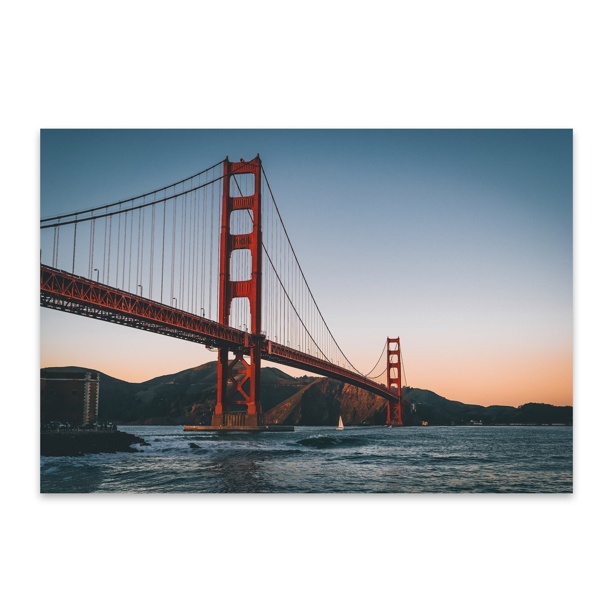 Noir Gallery Golden Gate Bridge San Francisco Metal Wall Art Print