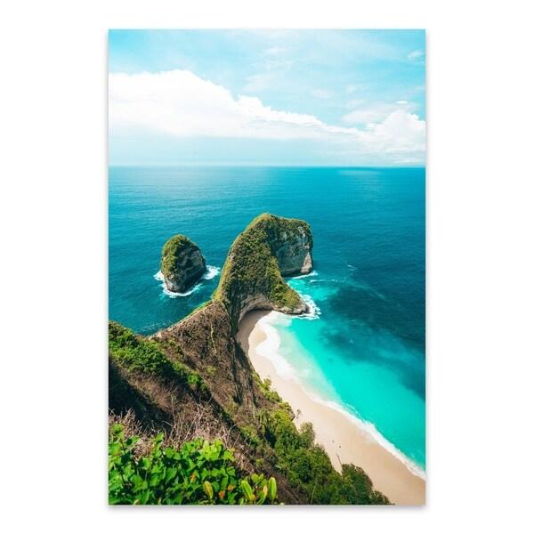 Noir Gallery Kelingking Beach Bali Indonesia Metal Wall Art Print