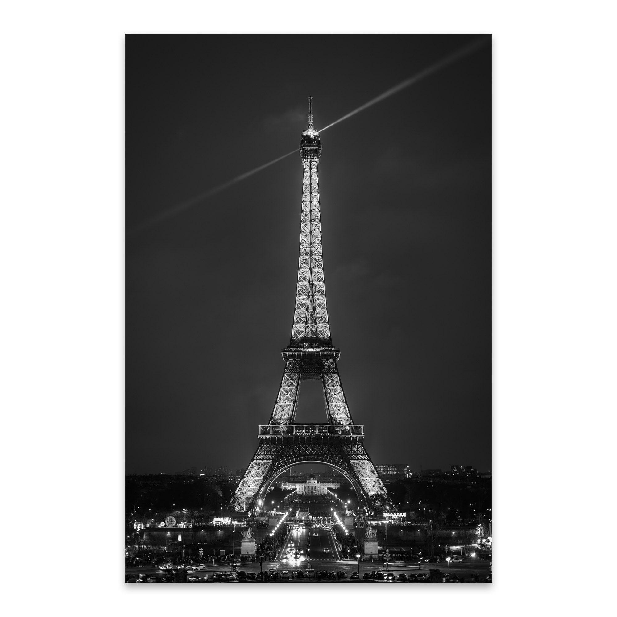 Shop Noir Gallery Black White Paris Eiffel Tower Metal Wall Art Print Overstock 27561845