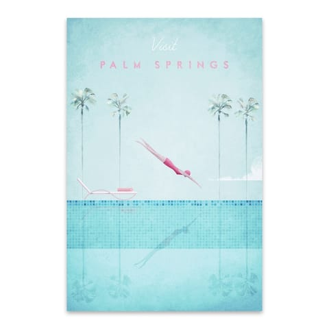 Noir Gallery Retro Palm Springs Travel Poster Metal Wall Art Print