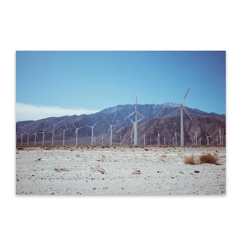 Noir Gallery Palm Springs Windmill Mountains Metal Wall Art Print