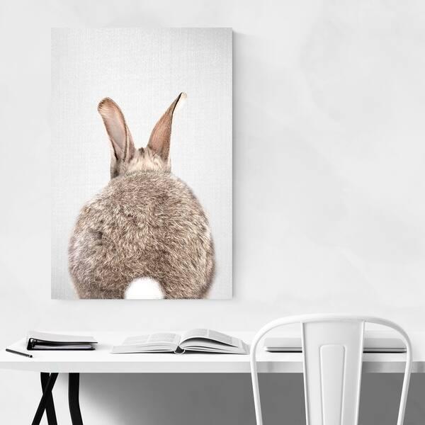 Noir Gallery Gal Design Rabbit Tail Metal Nursery King Animal Wall Art Print