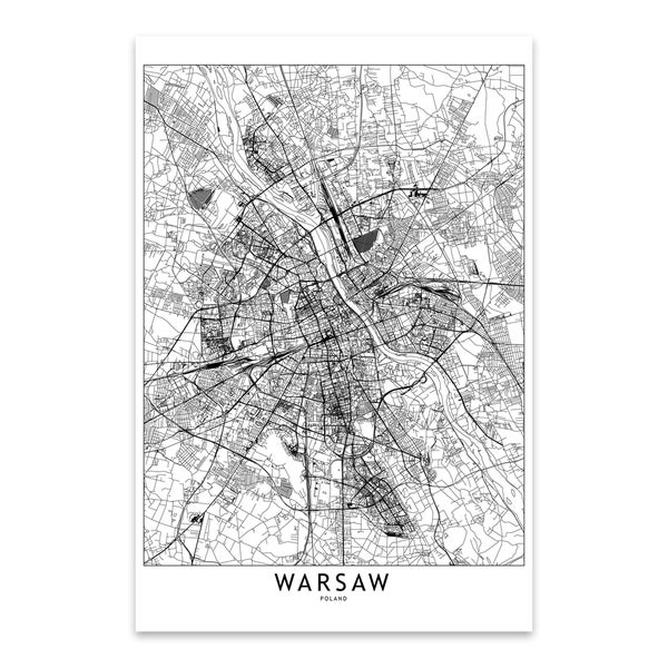 Noir Gallery multipliCITY 'Warsaw White Map' Metal City Map Wall Art Print. Opens flyout.