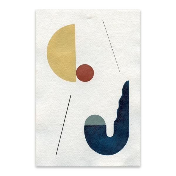 Ayse Sirin Budak Sunset Over The Desert Cactus 2 Noir Gallery Abstract Minimal Geometric Shape Metal Wall Art Print