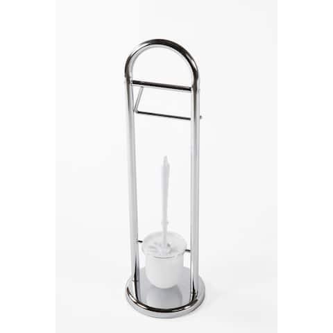 Multi-Purpose Freestanding Toilet Brush Toilet Paper Holder