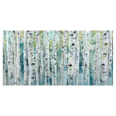 Spring Birches by Studio Arts Canvas Art Print