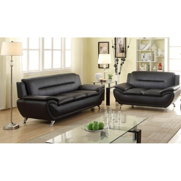 Cosima Faux leather 2pc Living room Set