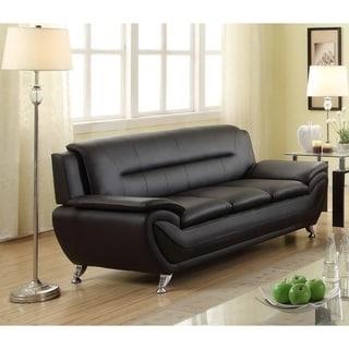 Cosima Contemporary Faux Leather Living Room Sofa