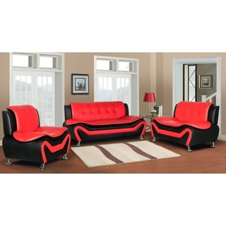 Jasmine Faux leather 3pc Living room Set