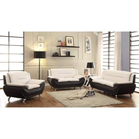 Judson Faux leather 3-piece Living room Set