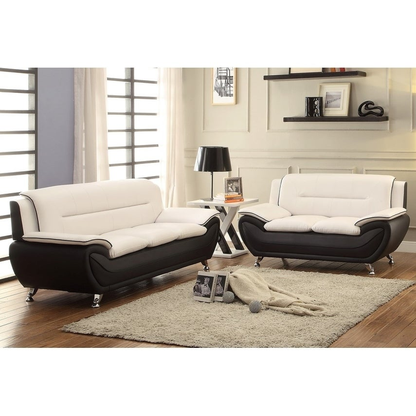 Shop Judson Faux Leather 2pc Living Room Set Overstock 27564774
