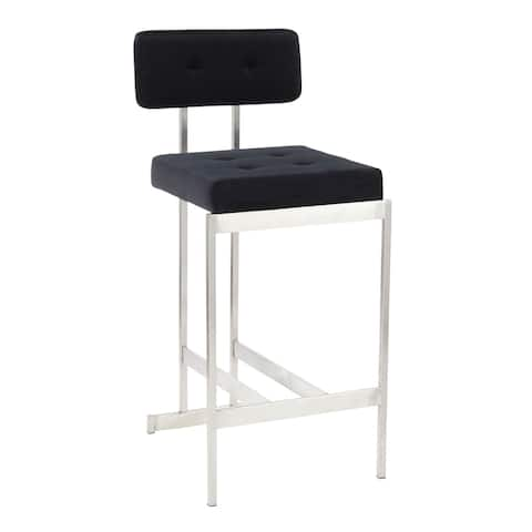 Copper Grove Devnya Velvet Counter Stool