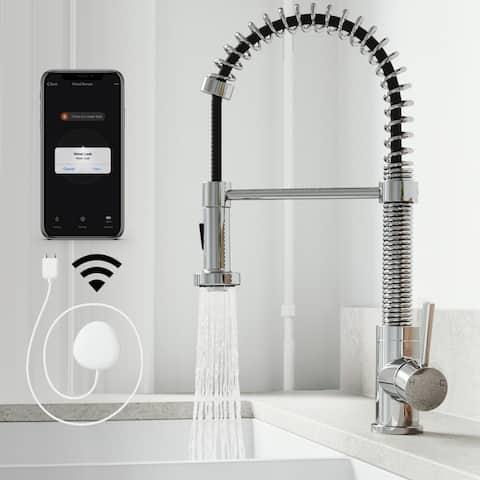 VIGO Edison Pull-Down Spray Kitchen Faucet with FloodSenseTM Technology