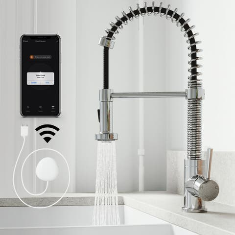 VIGO Edison Pull-Down Spray Kitchen Faucet with FloodSenseTM Technology
