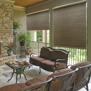 Link to Radiance 72-inch All Natural Bamboo Crank Shade Similar Items in Solar Shades