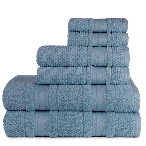 Central Park Studio Grace Textured Zero Twist - 6 Piece Towel Set - 6 Piece Towel Set