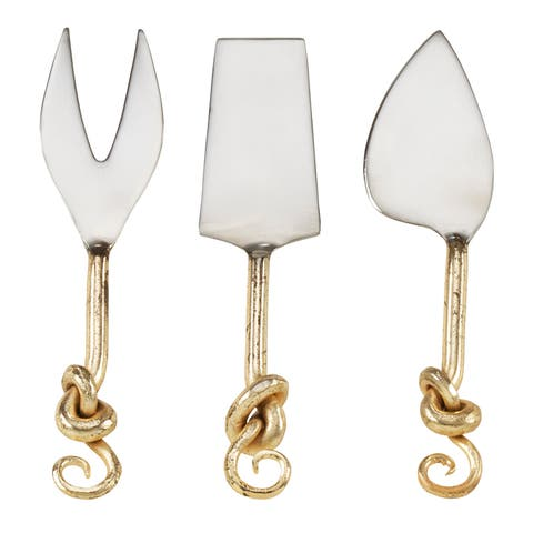 Knotted Design Cheese Cutlery (Set of 3)