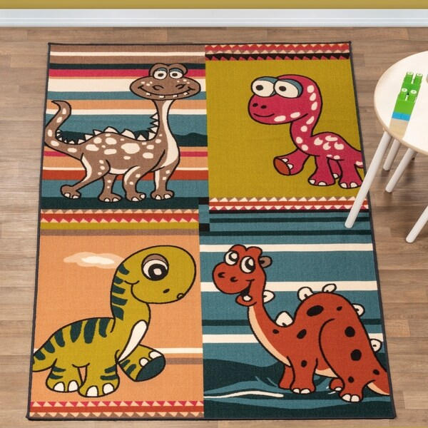 Superior Dinoventure Kids' Non-slip Area Rug