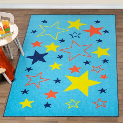 Superior All-Star Kids' Non-slip Area Rug