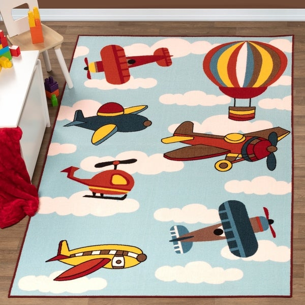 Superior Lil Flyer Kids' Non-slip Area Rug