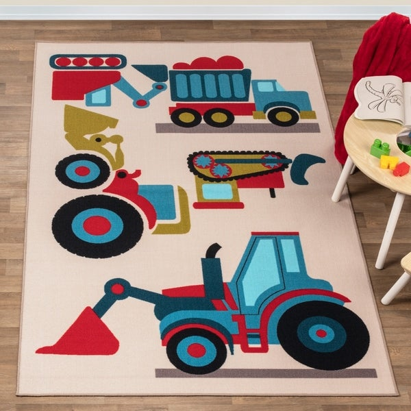 Miranda Haus Country Trucking Kids' Non-slip Area Rug