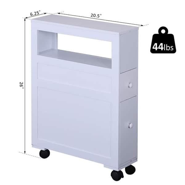 Rolling Bathroom Storage Easy Craft Ideas