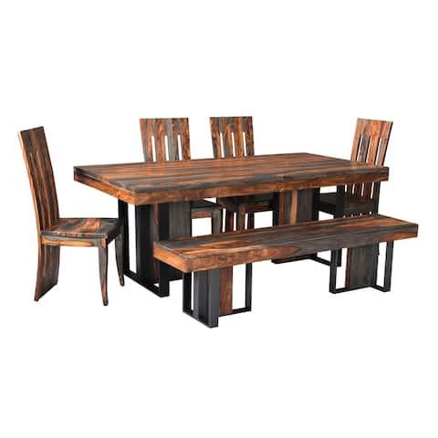"""Somette Sierra Brown Dining Table - Sierra Brown - 80""""W x 40""""L x 30""""H"""