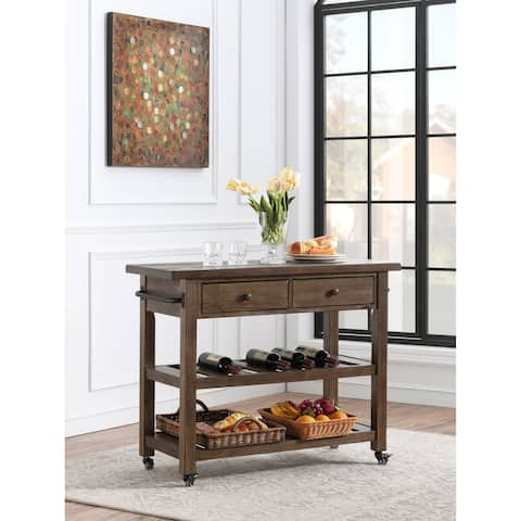 Somette Orchard Park Two Drawer Kitchen Cart