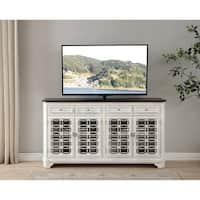 Somette Cottage Row White 4-door 4-drawer Media Credenza