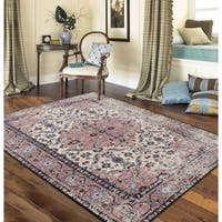 "RugSmith Blush Anatolia Distressed Transitional Area Rug - 7'6"" x 9'6"""