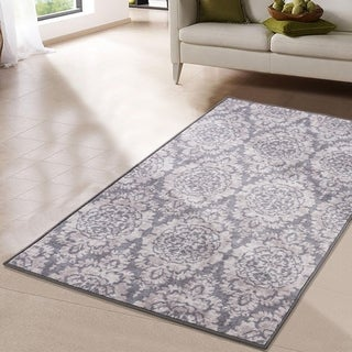 RugSmith Gray Baroque Floral Ikat Area Rug - 3' x 5'