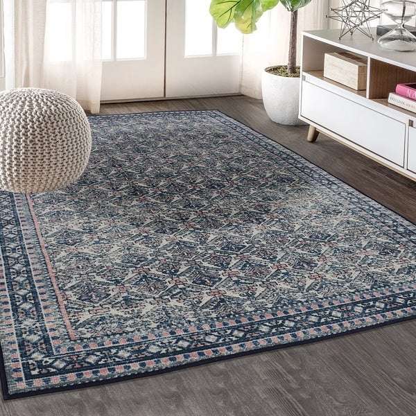 """RugSmith Sapphire Ancestral Distressed Transitional Area Rug - 7'6"""" x 9'6"""""""