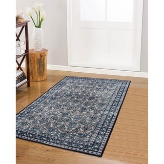 RugSmith Sapphire Ancestral Distressed Transitional Area Rug - 3' x 5'