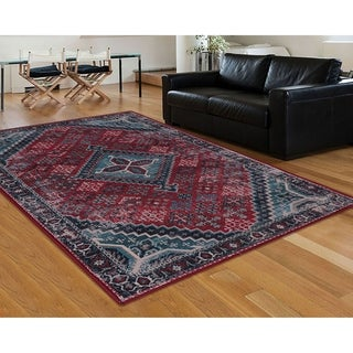 "RugSmith Red Esmee Distressed Transitional Area Rug - 7'6"" x 9'6"""