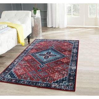 RugSmith Red Esmee Distressed Transitional Area Rug - 3' x 5'