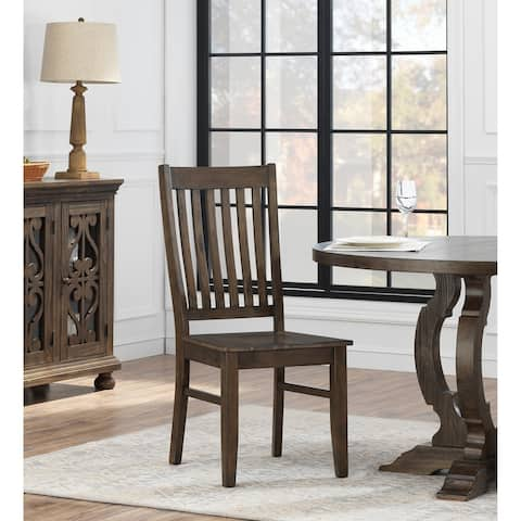 """Somette Orchard Park Dining Chair, Brown - 18""""W x 20""""L x 40""""H"""