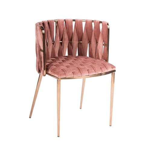 Statements By J Milano Dining Chair, Rose, 29.5 Inch Tall