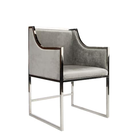Statements By J Erin Silver Dining Chair, 34 Inch Tall
