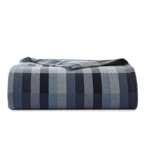 Eddie Bauer Windsor Stripe Blue Blanket